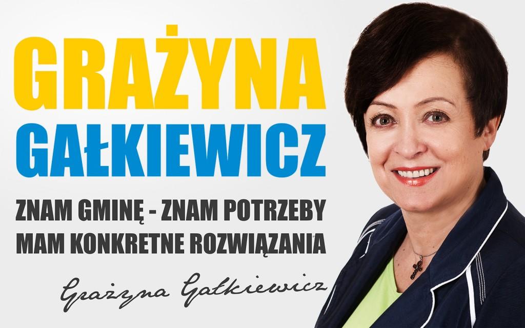 Baner wyborczy Grażyny Gałkiewicz - 1