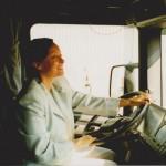 Za kierownicą jednego z pierwszych samochodów Scania w naszej firmie.