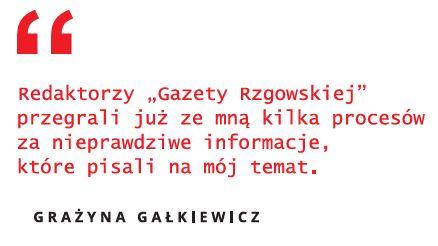 Grażyna Gałkiewicz i Gazeta Rzgowska