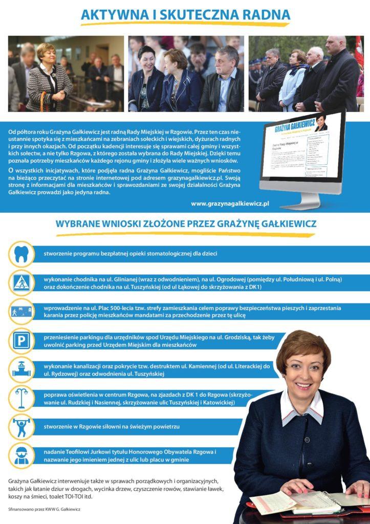 Grażyna Gałkiewicz - kandydat na Burmistrza Rzgowa - ulotka - str 3