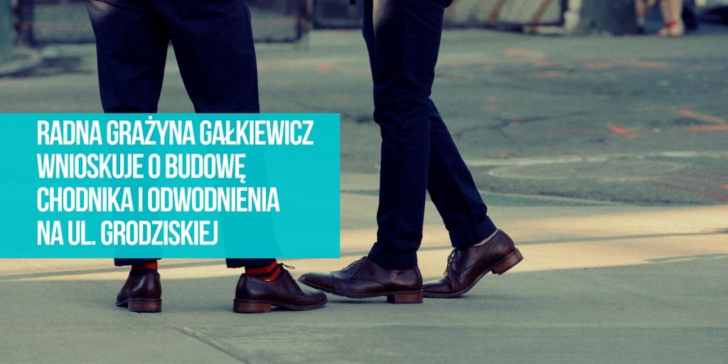 Wniosek o budowę chodnika i odwodnienia na ul. Grodziskiej w Rzgowie