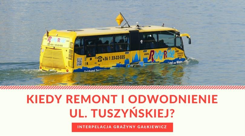 Interpelacja ws. fatalnego stanu ul. Tuszyńskiej