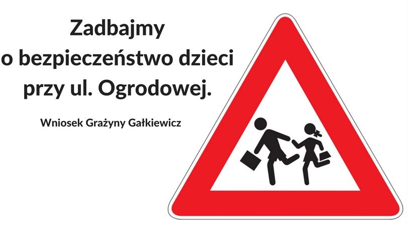 Wniosek ws. znaków drogowych na ul. Ogrodowej