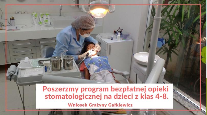 Wniosek o poszerzenie programu bezpłatnej opieki stomatologicznej