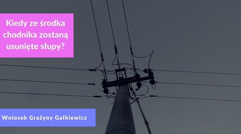 Kiedy przesunięte zostaną słupy energetyczne stojące na ul. Literackiej?
